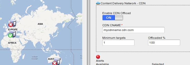 CDN offload: configuration dashboard