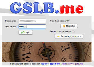 authoritative DNS - Logon screen