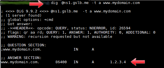 authoritative DNS - resolution testing